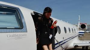 Asian on private jet