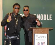 Andre Vann and Jermaine Jackson. This pic was taken during a promotional event for Jermaine Jackson's book.