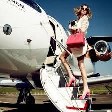 womanonplane